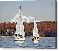 Seasonal Sailing Acrylic Print by Susan Leggett