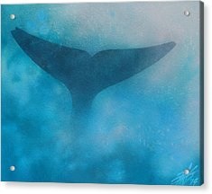 Seasoned Or Blue Whale Fluke Acrylic Print