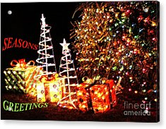 Acrylic Print featuring the photograph Seasons Greetings Card by Gary Brandes