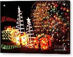 Seasons Greetings Card Acrylic Print by Gary Brandes