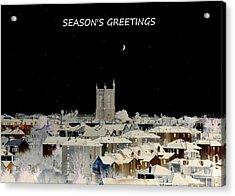 Seasons Greetings Christmas Card Acrylic Print by Bishopston Fine Art