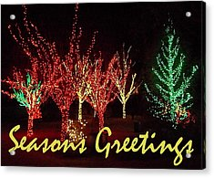 Acrylic Print featuring the painting Seasons Greetings by Darren Robinson
