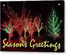 Seasons Greetings Acrylic Print by Darren Robinson