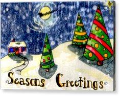 Seasons Greetings Acrylic Print by Jame Hayes