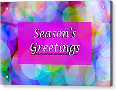 Seasons Greetings Acrylic Print