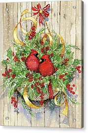 Seasons Greetings Acrylic Print by Kathleen Parr Mckenna