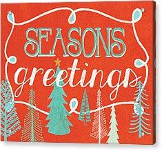 Seasons Greetings Acrylic Print by Mary Urban