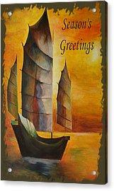 Season's Greetings Acrylic Print by Tracey Harrington-Simpson