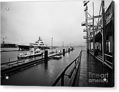seaspan marine tugboat dock city of north Vancouver BC Canada Acrylic Print by Joe Fox