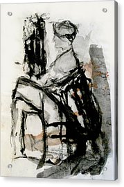 Seated Figure Acrylic Print by James Gallagher