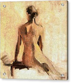 Seated Nude Acrylic Print by Dragica  Micki Fortuna
