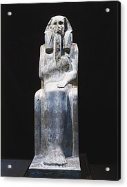 Seated Statue Of King Djoser. 2611 Bc Acrylic Print by Everett