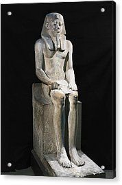 Seated Statue Of Sesostris I. 1971 Acrylic Print by Everett