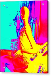 Seated Woman Acrylic Print by Ed Weidman