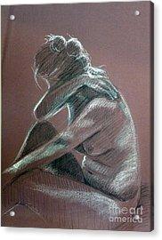 Seated Woman Side Light Acrylic Print