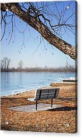 Seating Bench Acrylic Print