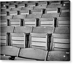 seats 5810BW Acrylic Print by Rudy Umans
