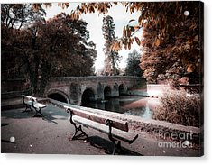 Seats By The River Acrylic Print