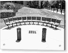 Seats Still Available Bw Acrylic Print