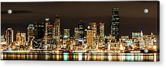 Seattle At Night Acrylic Print by Chris McKenna