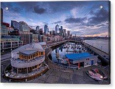 Seattle Bell Street Pier Acrylic Print by Dan Mihai