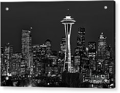 Seattle Black And White Acrylic Print