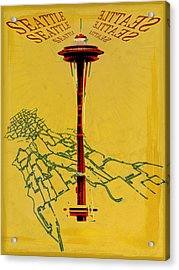 Seattle Calling Acrylic Print by Sandstone Inc