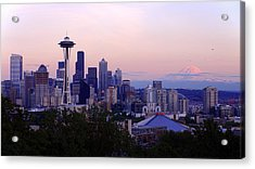 Seattle Dawning Acrylic Print by Chad Dutson
