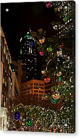 Seattle Downtown Christmas Time Art Prints Acrylic Print