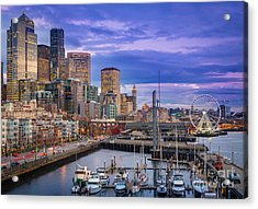 Seattle Great Wheel Acrylic Print by Inge Johnsson