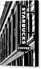 Seattle Icon Black And White Acrylic Print by Benjamin Yeager