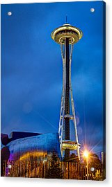 Seattle Impressions Acrylic Print by Wade Brooks