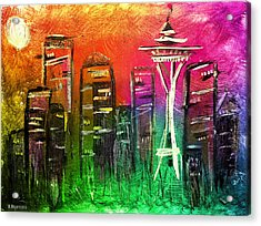 Seattle Land Of Color Acrylic Print by Melisa Meyers