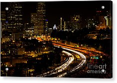 Seattle Light Trails Acrylic Print