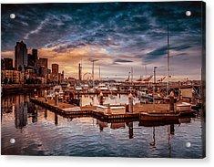 Seattle Marinescape. Acrylic Print by Eti Reid