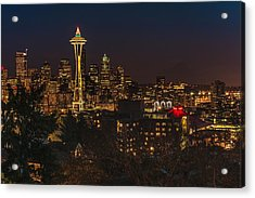 Seattle Night Lights Acrylic Print