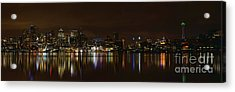Seattle Panorama Acrylic Print by Eddie Yerkish