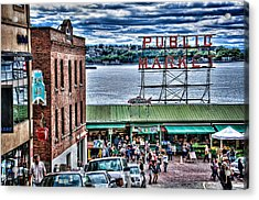 Seattle Public Market II Acrylic Print by Spencer McDonald