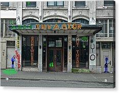 Seattle Publix Hotel Acrylic Print by John Hines