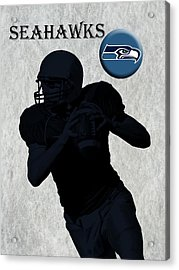 Seattle Seahawks Football Acrylic Print by David Dehner