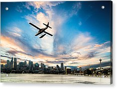 Seattle Short Final Acrylic Print by Peter Irwindale
