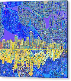 Seattle Skyline Abstract 6 Acrylic Print