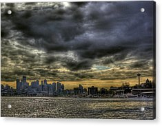 Seattle Skyline Acrylic Print by David Patterson