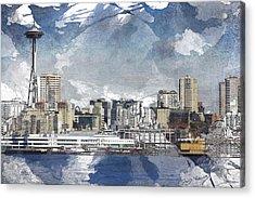 Seattle Skyline Freeform Acrylic Print
