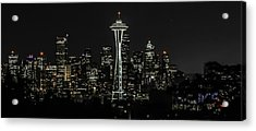 Seattle Skyline From Kerry Park Acrylic Print by CarolLMiller Photography