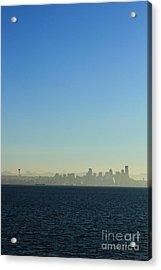 Seattle Skyline Acrylic Print by Hans Koepsell