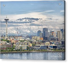 Acrylic Print featuring the photograph Seattle Skyline by JRP Photography
