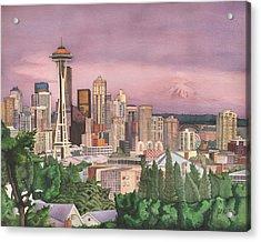 Seattle Skyline Acrylic Print by Josh Marks