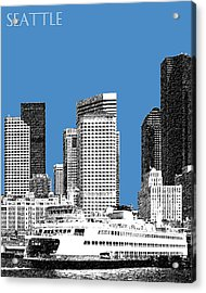 Seattle Skyline - Slate Acrylic Print by DB Artist