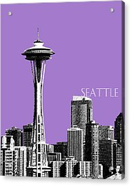 Seattle Skyline Space Needle - Violet Acrylic Print by DB Artist